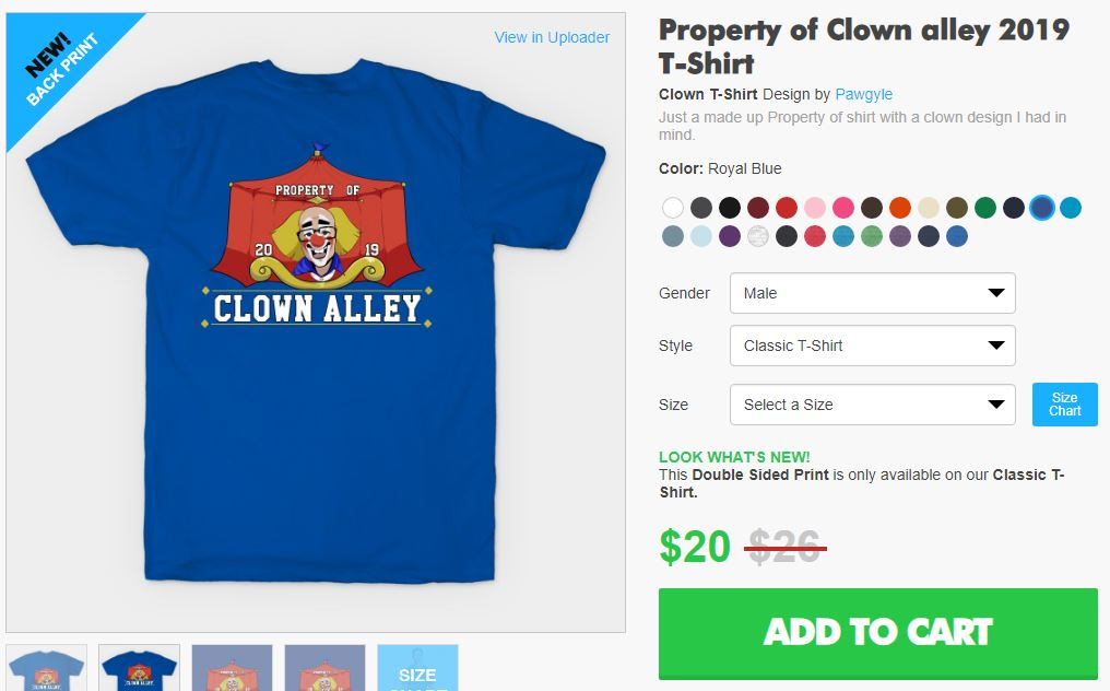 Property of clown alley design