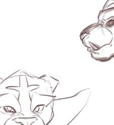 Sketch - Litten's final evolution - faces
