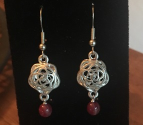 Metal Rose Earrings