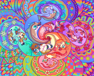 Psychedelic Furry Tapestry