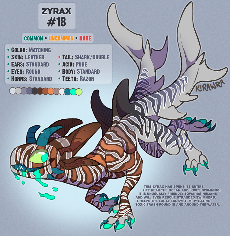 Zyrax #18 Adoptable [SOLD]