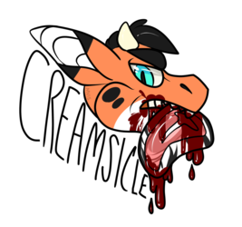 Steak Badge - Creamsicle