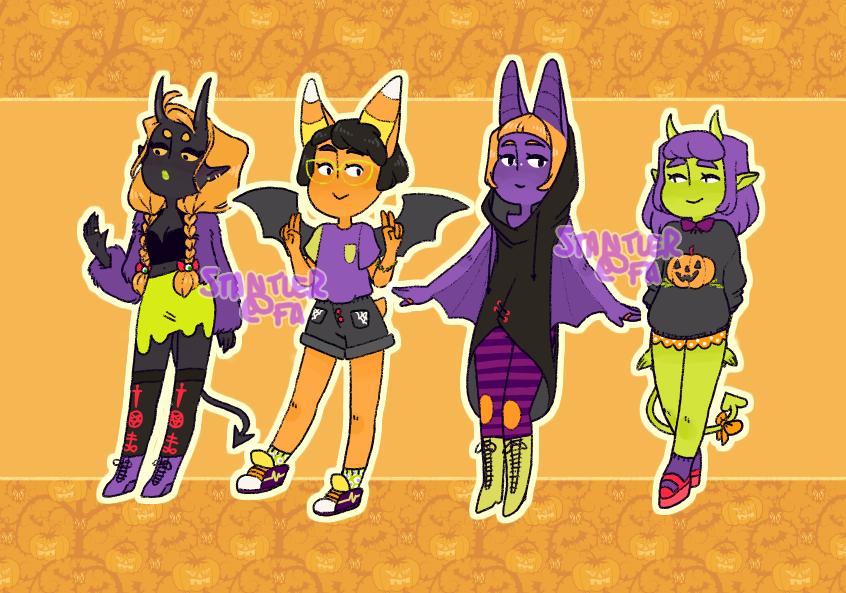 Most recent image: halloween adoptables!