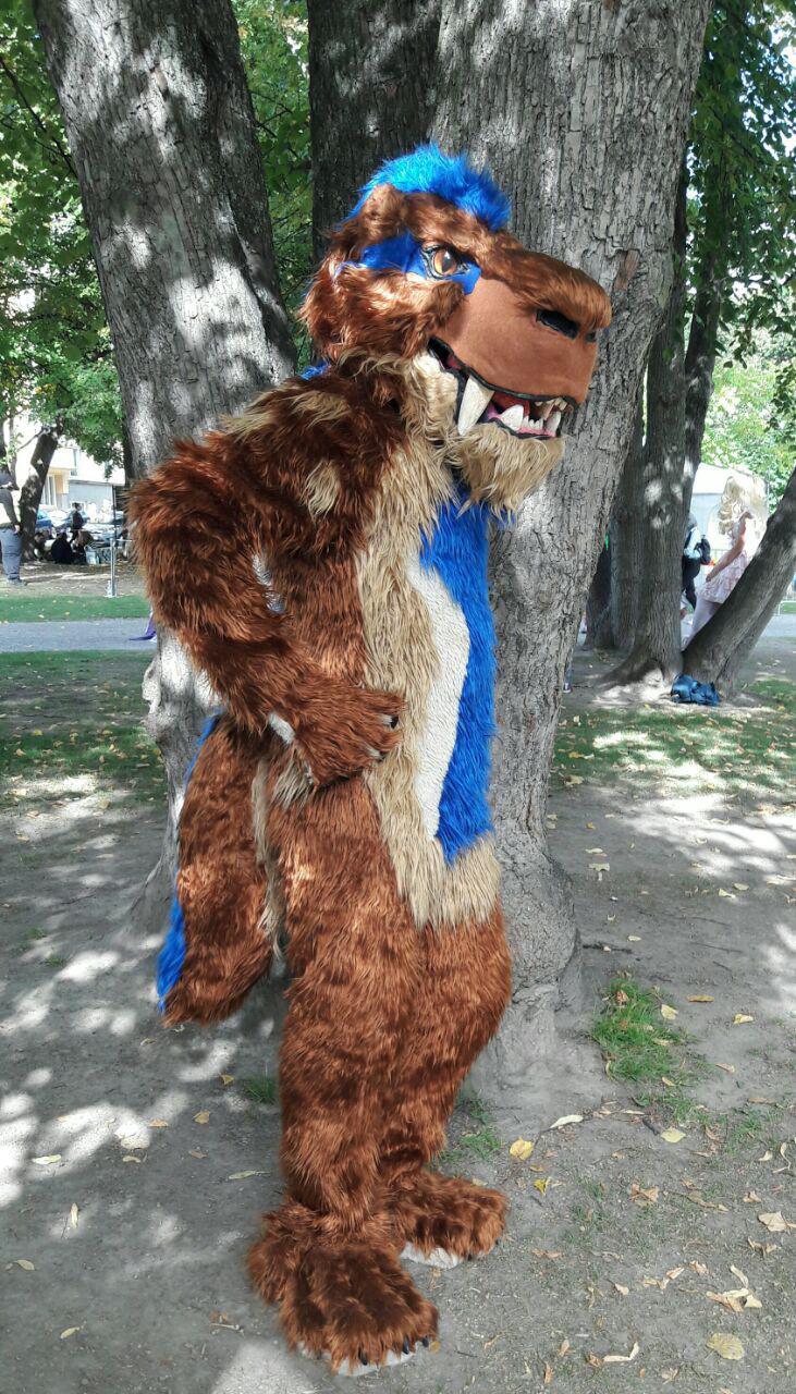 Sakke (Fursuit) at Tracon 2016