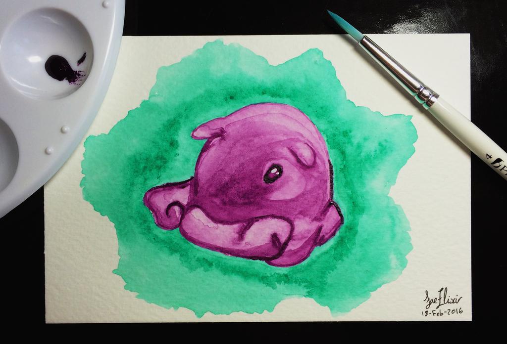 Tiny Purple Octopus