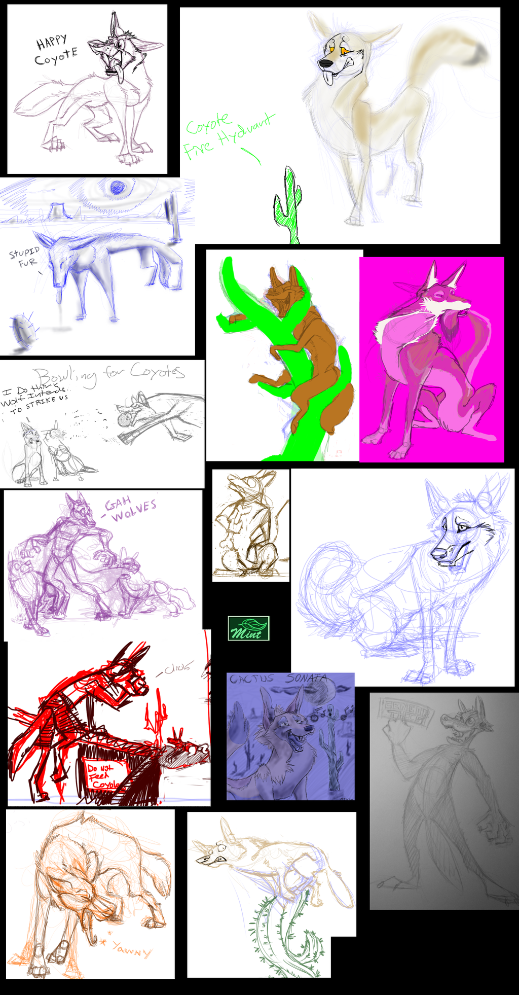 (OLD Doodle Tower) 2012 - 2014 Coyotes Are Immune to Cacti