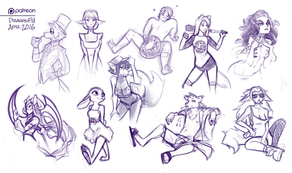 Apr 2016 Patreon Sketch Page