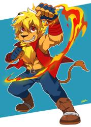 Fiery Chibi Lion - by seiryuuden