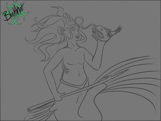Inktober day 4- Siren