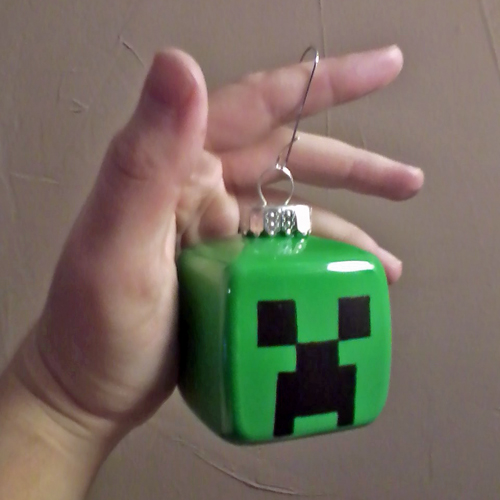 Handmade Creeper Ornament