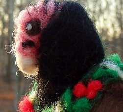 Felted Festive Turkey Vulture