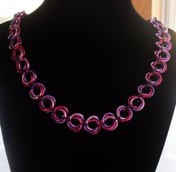 Purple and Pink Mobius Necklace