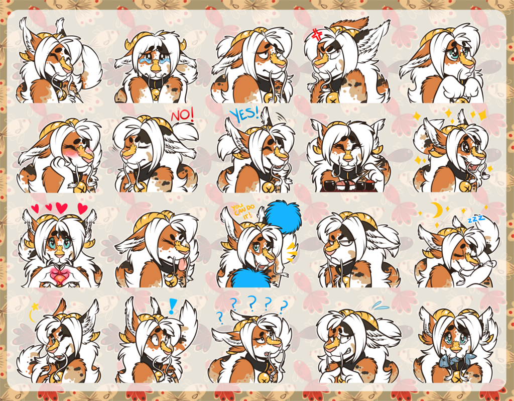 [commission] Telegram Stickers: Mandakatt