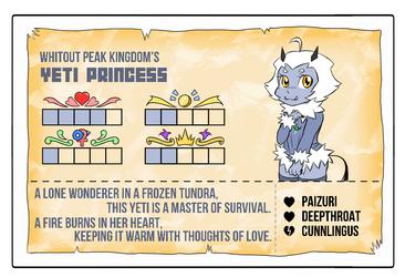 Towergirls Yeti princess Character card