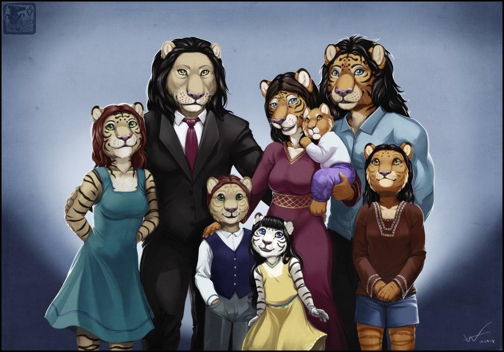Panthera Family Portrait