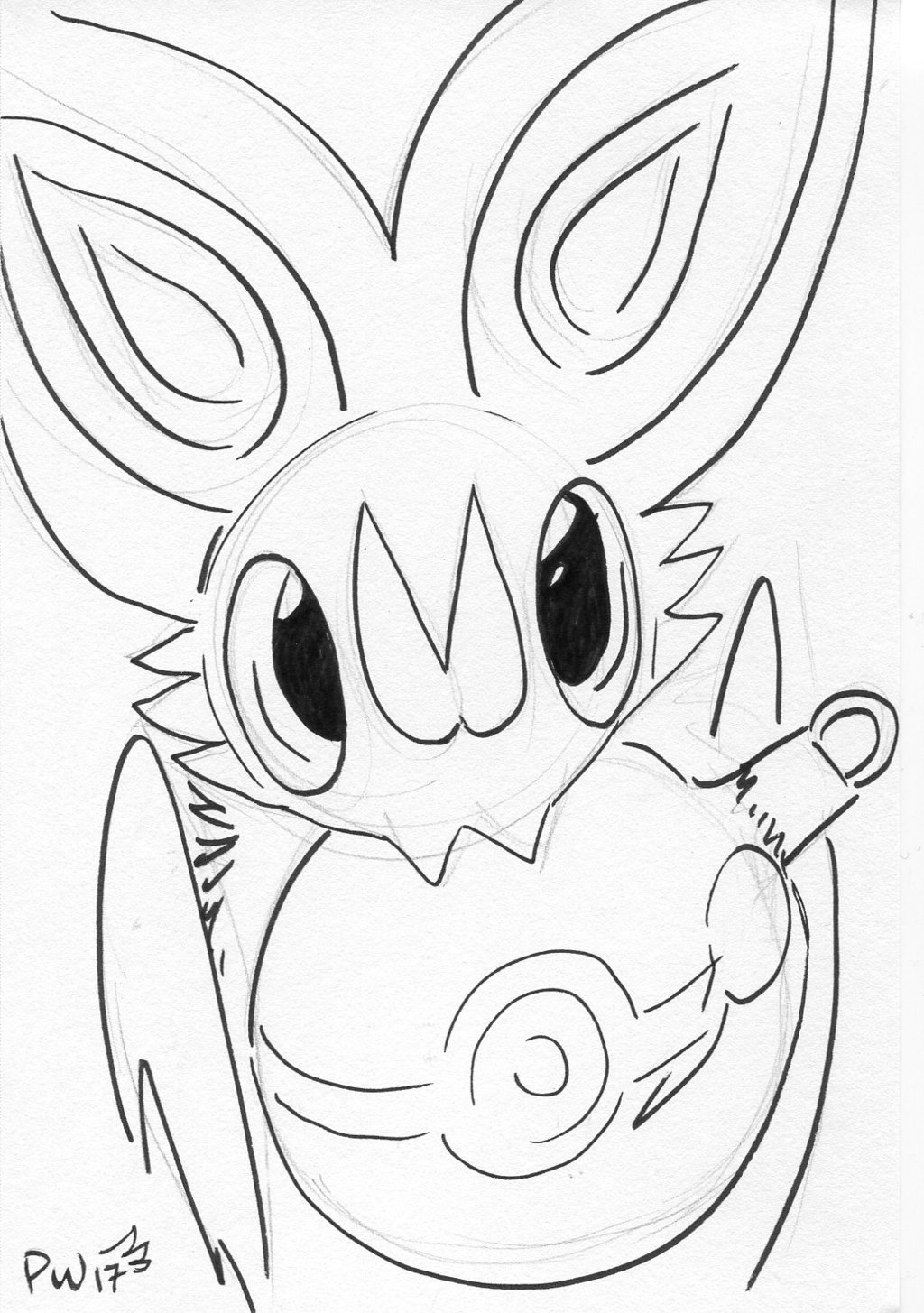 Noibat with ornament