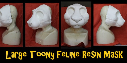 Large Toony Feline Resin Mask