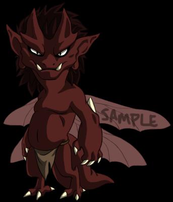 Sample Adoptable Imp - Red