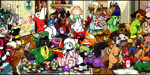 YCH Kigurumi / Onesies Pajama Party