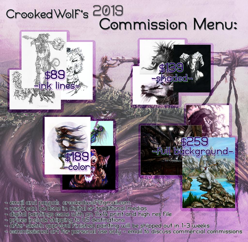 CrookedWolf's Commission Menu