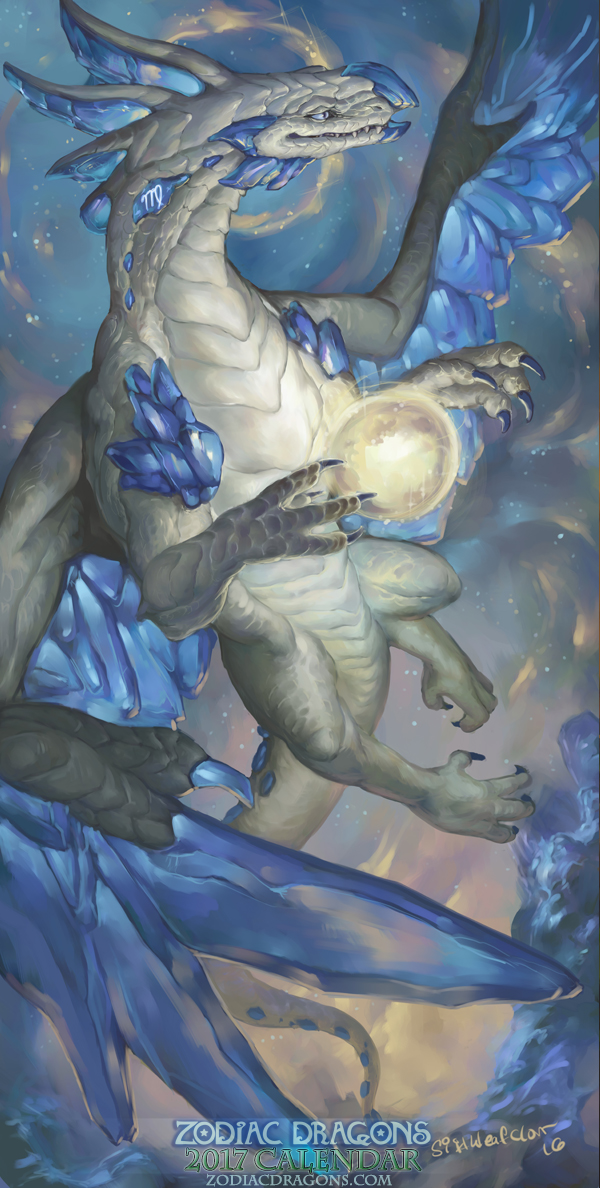 2017 Zodiac Dragons Calendar - Virgo Dragon