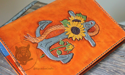 Anchor & Sunflower Journal Cover