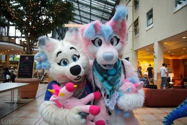 2 cute wolves  @ Eurofurence21