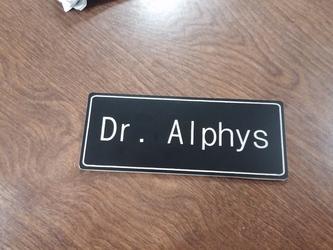 Dr. Alphys Name Badge