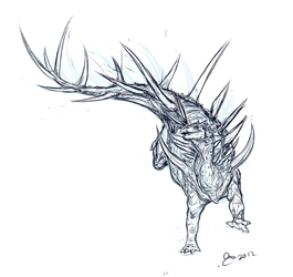 Sketch Kentrosaurus