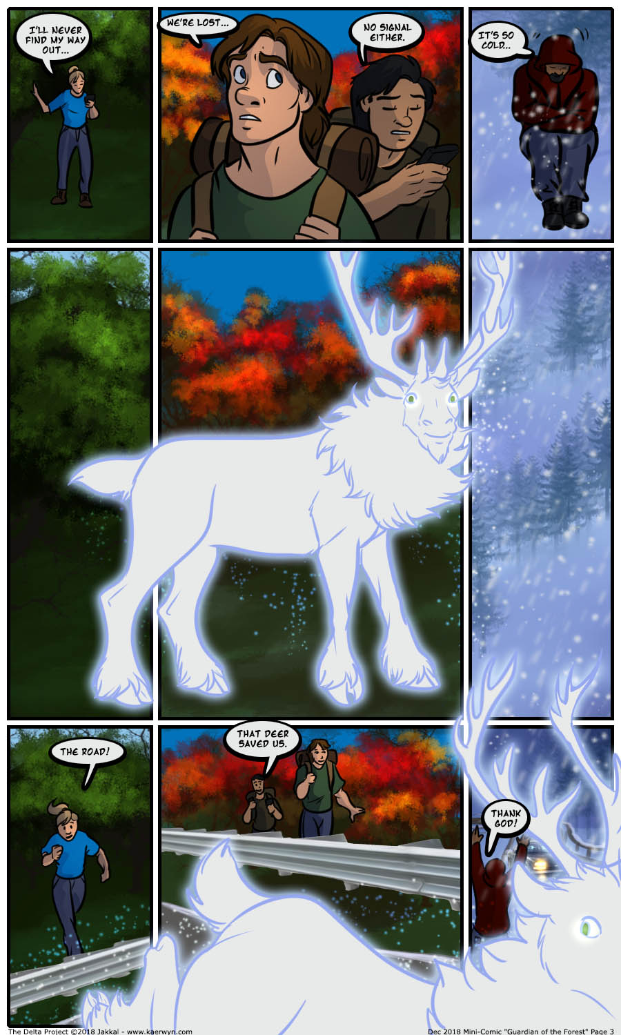 Most recent image: The Delta Project: Guardian of the Forest Page 3