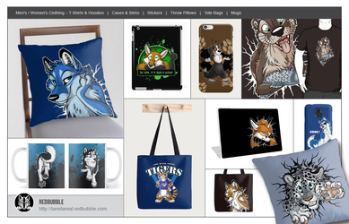 My art on RedBubble products