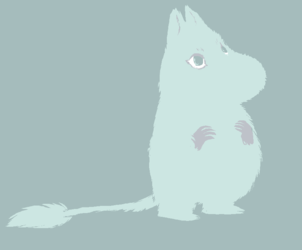 fuzzy moomin