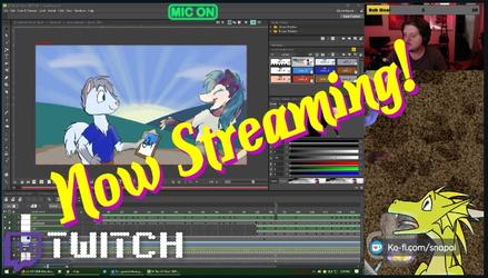 Twitchstream, animation stream, chill stream