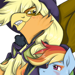 Commission: Gilda Jack and Rainbow Dash