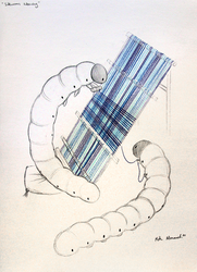 Sketchbook - Silkworms Weaving