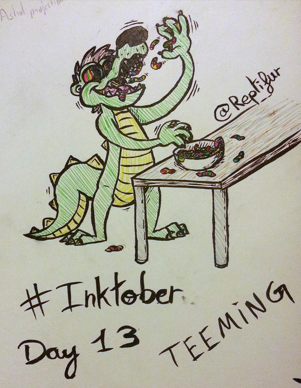 Inktober Day 13 : TEEMING
