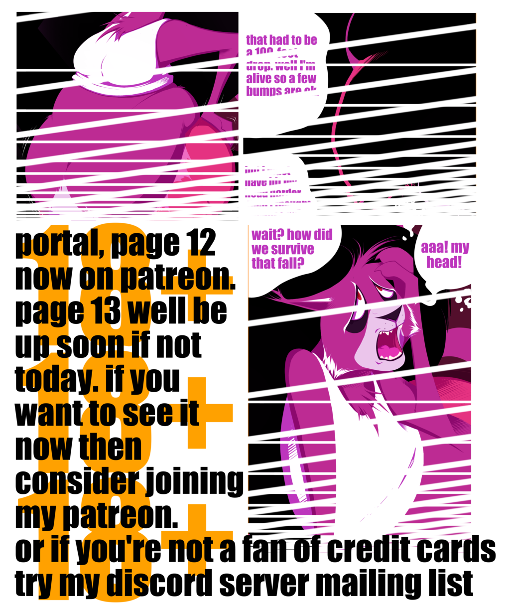 Most recent image: potral page 12 now up on patreon and discord server