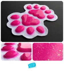 HANDPADS: Glittery magenta