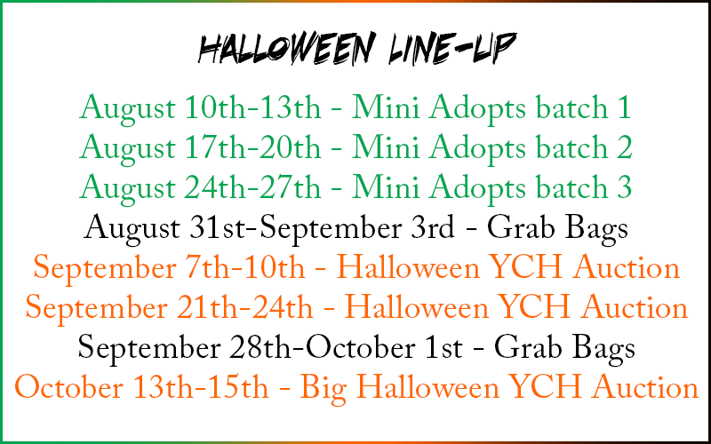 Most recent image: Halloween Line-Up