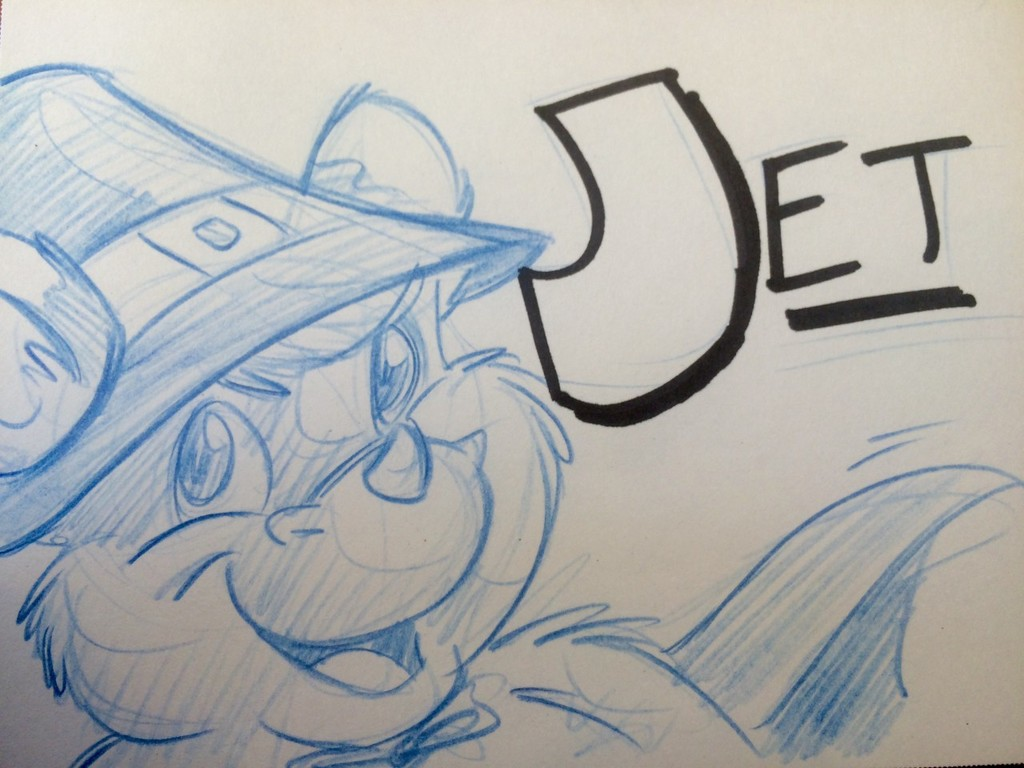 Jet sketch badge RF2015
