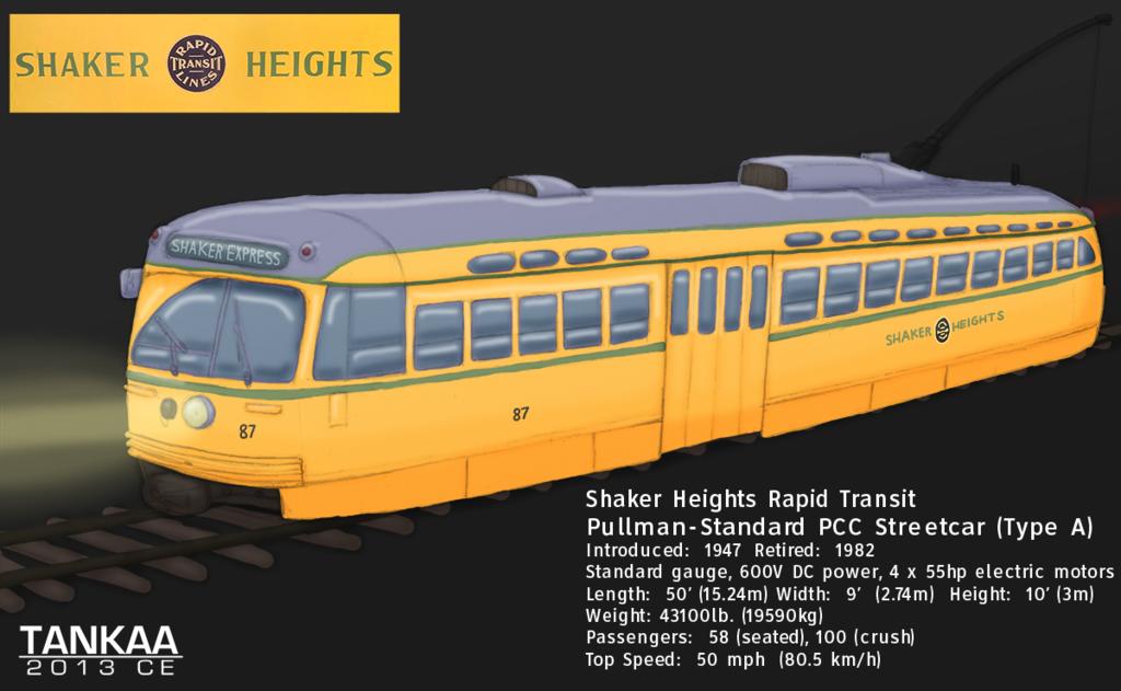 Shaker Heights Rapid Transit PCC Streetcar