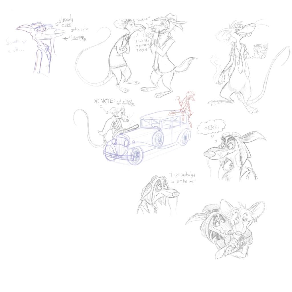 Pest'n MadDog Ribnose sketches