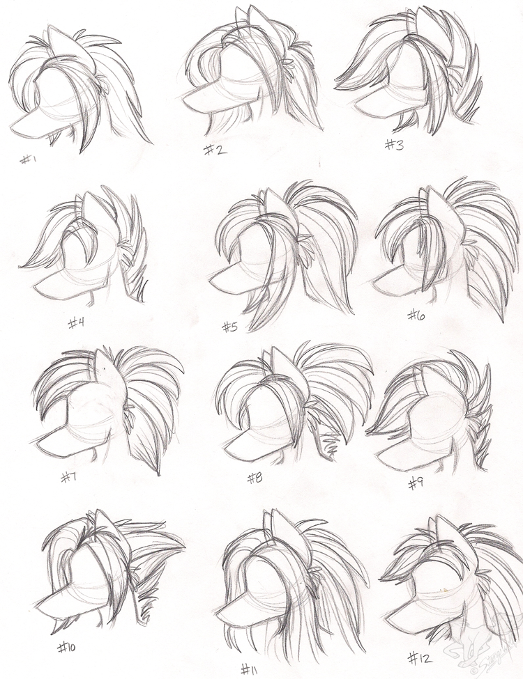 Female Anthro Wolf Hairstyles