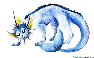 Vaporeon is ready to attack