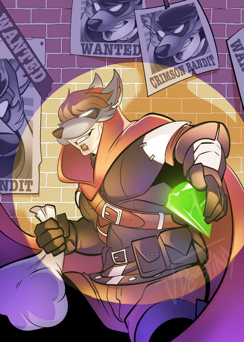 Crimson Bandit (COMMISSION)