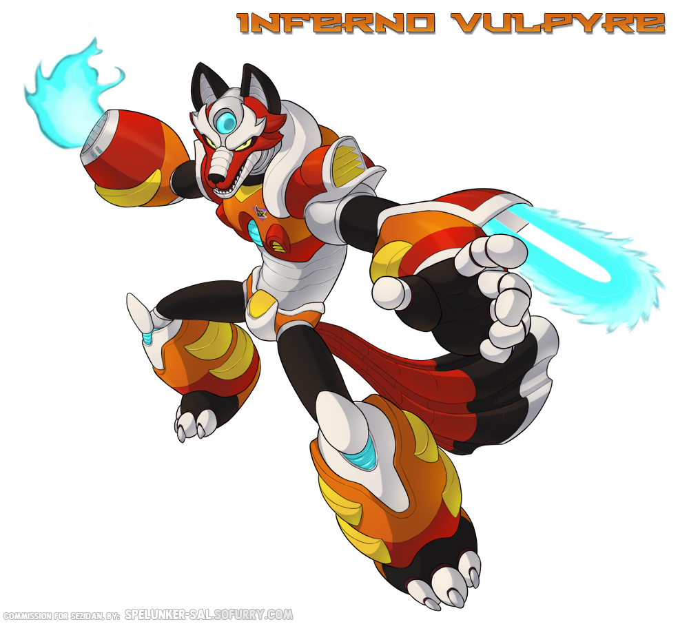 Inferno Vulpyre - Reploid commission for Sezidan