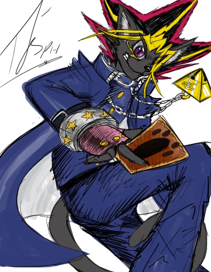 Halloween Sketch - Lenoh as Yugi
