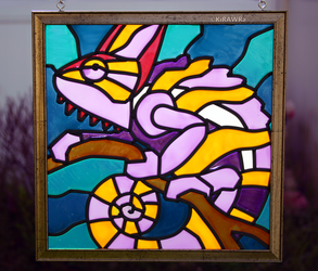 Chameleon Faux Stained Glass (Outdoor)