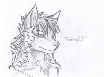 Friendly Wolfy Sketch