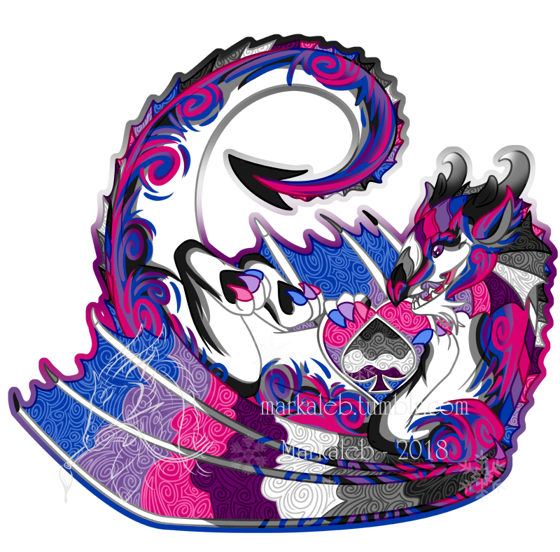 Most recent image: Biromantic Asexual Pride Dragon